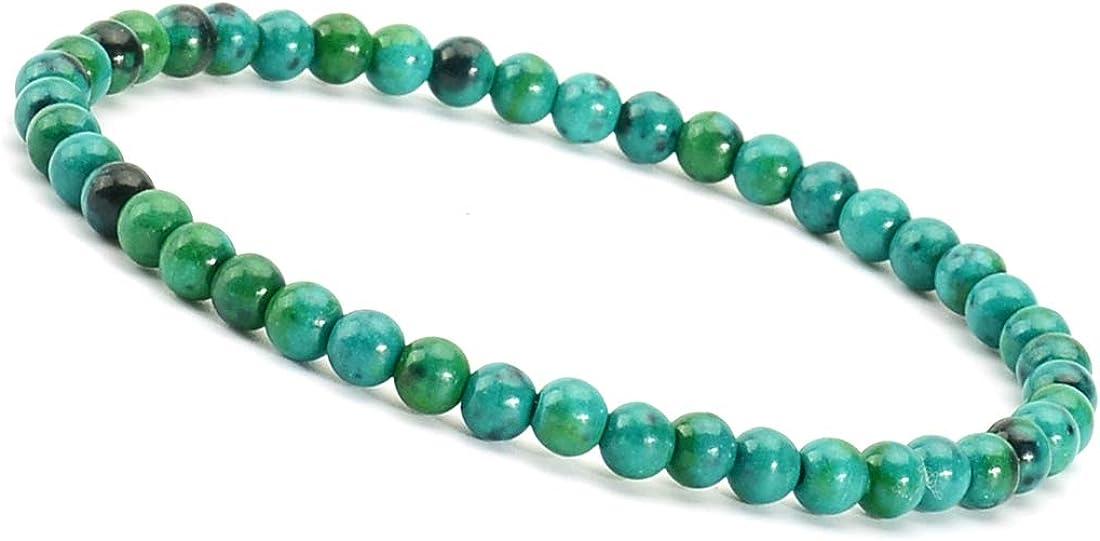 Massive-beads Gemstone Bracelets Natural Gemstone Birthstone Handmade Healing Power Crystal Beads Elastic Stretch 7.5