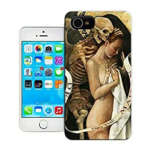 TYH - Unique Phone Case Skeleton skull head arts map Skull and Women Love Hard Cover for iPhone 6 4.7 cases-buythecase ending phone case