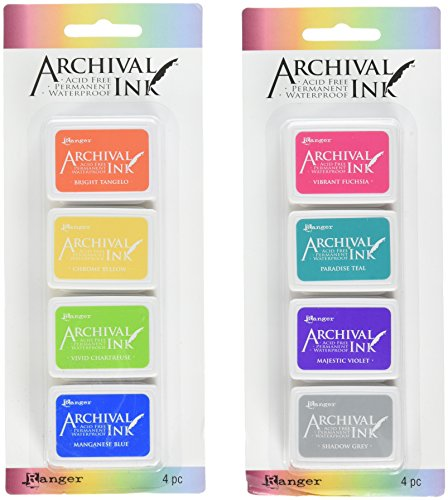 Ranger Mini Archival Ink Pad Kits #3 & #4 - 2 item Bundle by Archival Ink