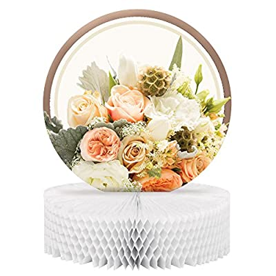 Creative Converting 318156 Honeycomb Centerpiece, Rose Gold Bouquet
