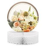 Creative Converting 318156 Honeycomb Centerpiece, Rose Gold Bouquet