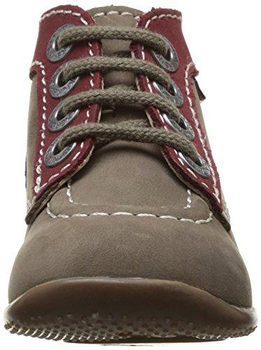 garçon Multicolore pas Bordeaux Marron Bonbon Chaussures premiers Gris Kickers bébé 12 461qXwnH