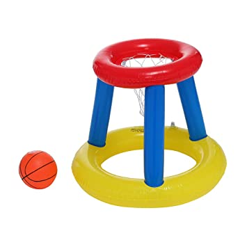 Aro de baloncesto inflable para piscina con una pelota de ...