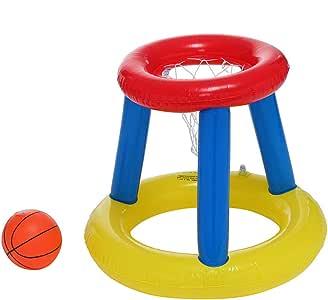 Aro de baloncesto inflable para piscina con una pelota de baloncesto, flotante para piscina y juegos de agua, emocionante, divertido juego de agua para verano para jugadores de todas las edades: Amazon.es: