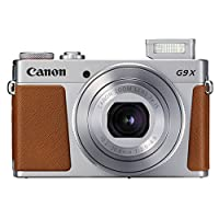 Canon PowerShot G9 X Mark II Digital Camera (Silver) + SanDisk 64GB Memory Card + Point & Shoot Case + Flexible Tripod + USB Card Reader + Cleaning Kit + LCD Screen Protectors - Full Accessory Bundle by Canon
