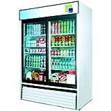 Turbo Air TGM-48R, 2 Door, Glass Slide Door Refrigerator
