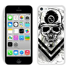 Hot Sale iPhone 5C Screen Cover Case With metal mulisha 1 White iPhone 5C Case Unique And Beautiful Designed Phone Case