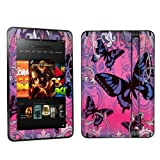 Amazon Kindle Fire HD 7 inch Tablet Decal Vinyl Skin - Purple Butterfly By Skinguardz