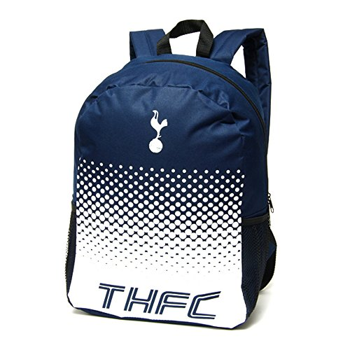 fan products of Tottenham Hotspur FC Official Fade Football/Soccer Crest Backpack/Rucksack (One Size) (Navy/White)