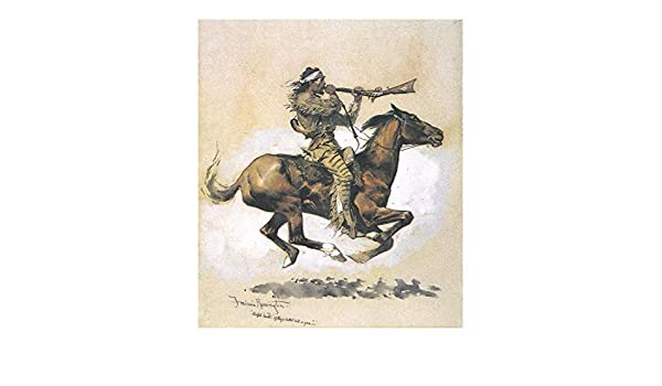 Buffalo Hunter Spitting.. by Frederic Remington   Paper Print Repro