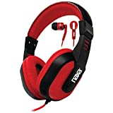 NAXA NE-934Red DJZ Ultra Plus Headphone/Earbud Combo (Red) electronic consumer