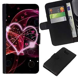 KLONGSHOP // Tirón de la caja Cartera de cuero con ranuras para tarjetas - Amor Oye Resumen - Samsung ALPHA G850 //