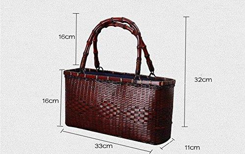 7d6929dd2cdcd Bambus-Tasche Handtasche Retro feine reine handgemachte Bambus-Tasche  enthält Bambus-Handtasche ...