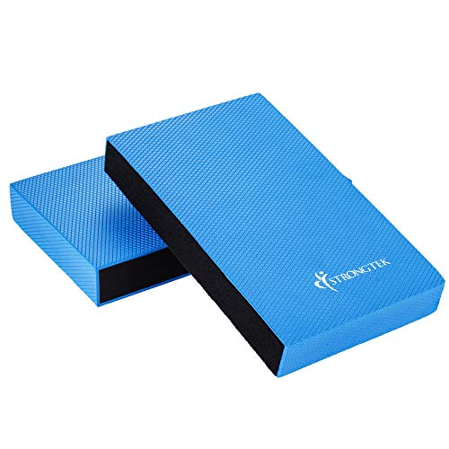 Balance Pad - Balancing Foam Pad, Large 2 in 1 Non-Slip Yoga Foam Cushion Exercise Mat & Knee Pad for Fitness and Stability Training, Pilates, Physical Therapy   Core Trainer Board