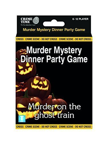 Crime Time Murder on the Ghost Train - Murder mystery gift box - downloadable game for 6,8,10 or 12 -