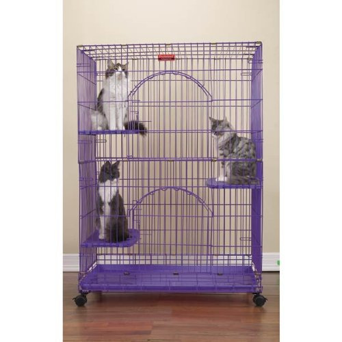 ProSelect Wire Foldable Cat Cage, Black, My Pet Supplies