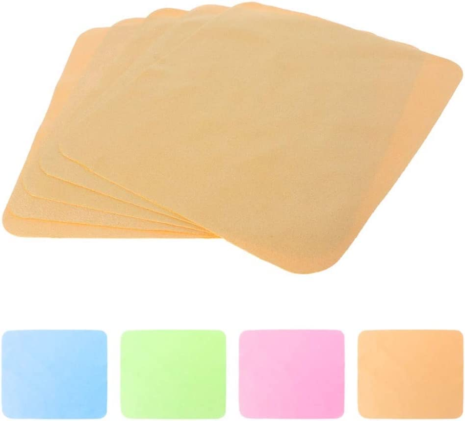 5 Pcs Glasses Cleaning Cloth Double Side Velvet Soft Cleaner Wipe Phone Screen