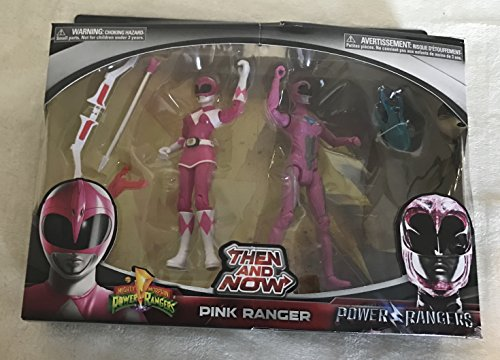 Power Rangers Movie Then and Now Pink Ranger Action Figure Set 5 -