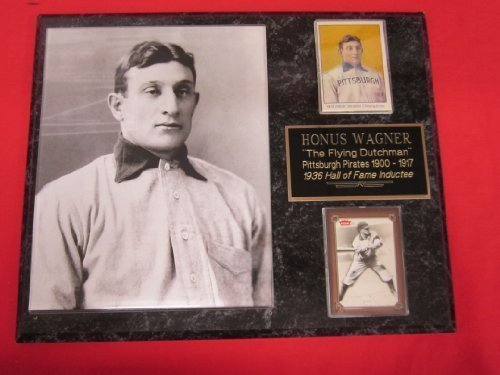 Honus Wagner Pirates 2 Card Collector Plaque w/ 8x10, used for sale  Delivered anywhere in USA