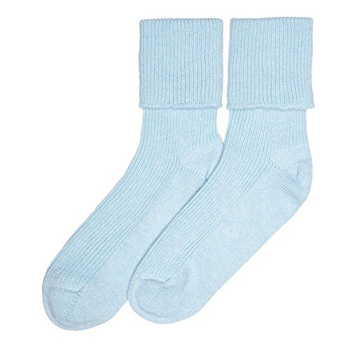 Ladies Cashmere Socks, Blue