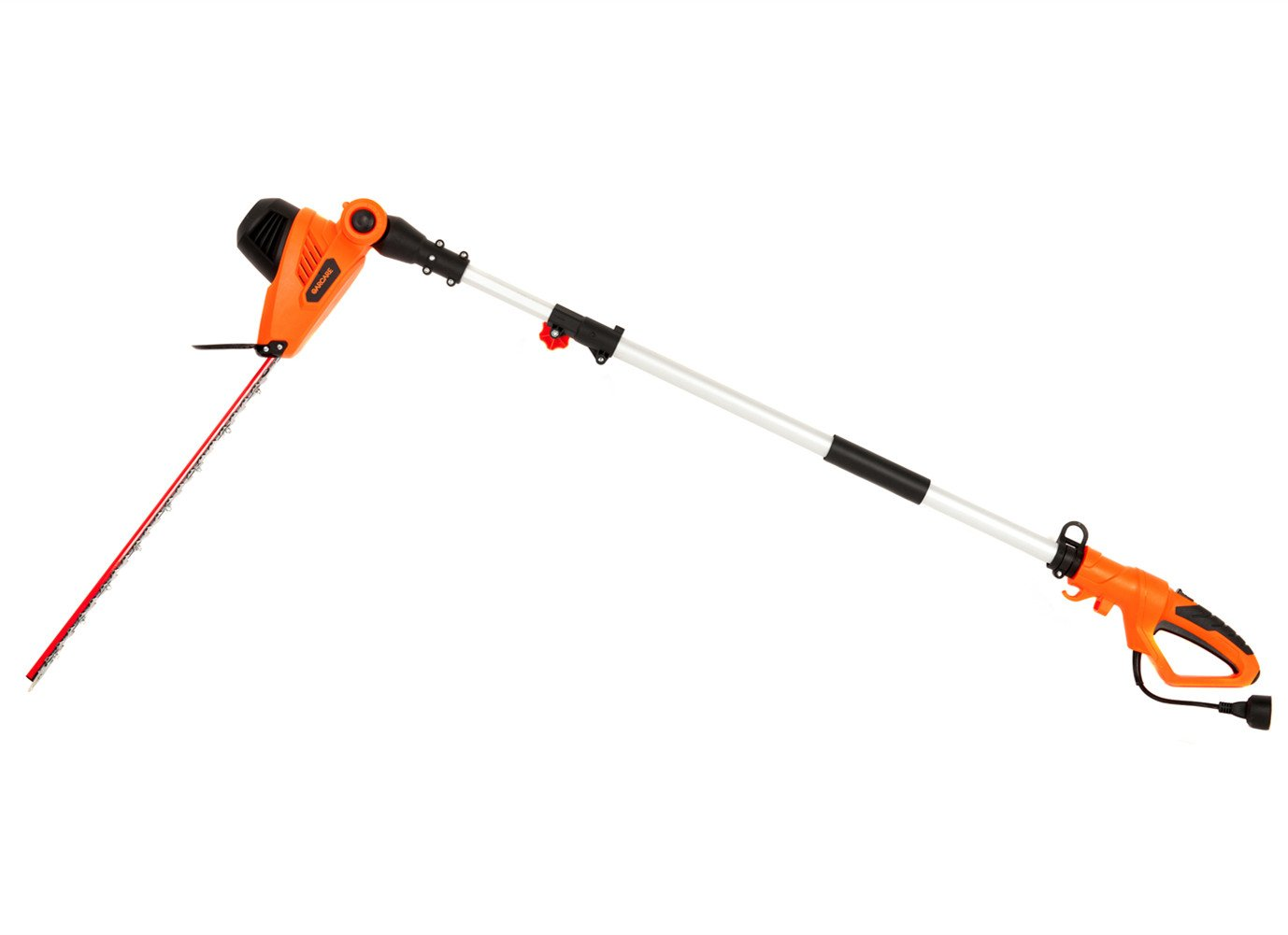 GARCARE 4.8-Amp Multi-Angle Corded Pole Hedge Trimmer with 20-Inch Laser Blade, Blade Cover Included