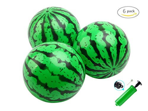 [Dr.Pink Watermelon Ball Needle Kit, Beach Summer Party,Pack of 6, 6.2 Inch] (Watermelon Ball)