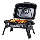 GreenWise Portable Foldable Charcoal Grill with Steel Cooking Grate Outdoor BBQ for Home Garden Backyard Party Camping