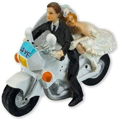 Bride And Groom Wedding Cake Topper Motorbike Amazon Co Uk Kitchen Home