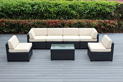 Ohana-7-Piece-Outdoor-Wicker-Patio-Furniture-Sectional-Conversation-Set-with-Weather-Resistant-Cushions