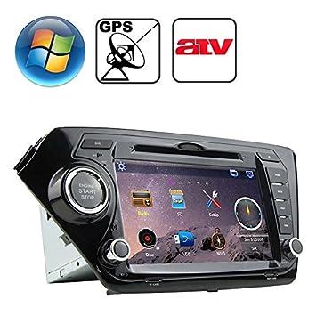 Radio para Coche para Kia K2 con Bluetooth/GPS/RDS/ATV rungrace 8 Pulgadas Windows CE 6.0 Pantalla TFT en el Cuadro Borde Reproductor de DVD: Amazon.es: ...