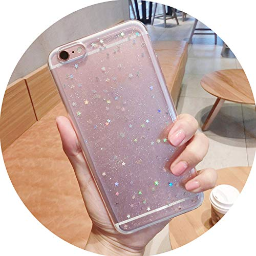 Bling Glitter Soft Silicone Case for iPhone 7 8 6 6S Plus Star Cover Shining Cases for iPhone X XR XS Max Back Capa,Clear,for XS MAX (6.5inch)