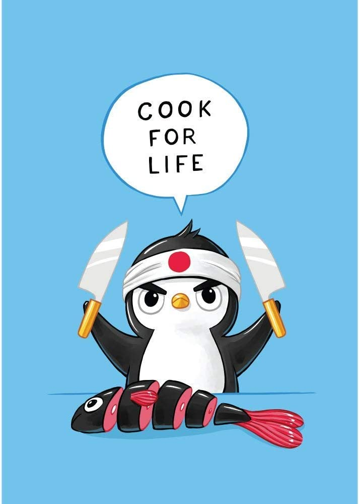 My Wonderful Walls Penguin Anime Art Decal Penguin Chef by Indre Bankauskaite (S)