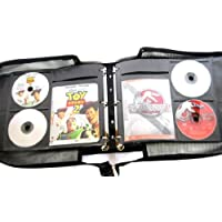 Artisan 120 Disc Black Canvas DVD Album with 60 Liner Notes or Title Cover Page Capacity - Using Metal Ring Binder