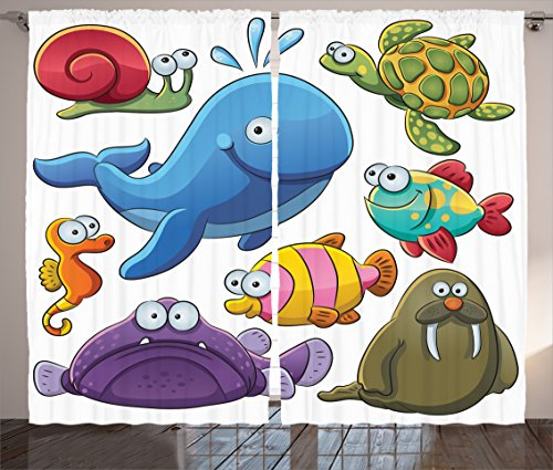 ambesonne-whale-decor-collection-group-of-underwater-animals-sea-otter-slug-snail-summer-day-art-des