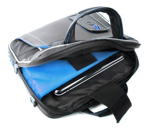 DURAGADGET Maletín Para La Vuelta Al Cole, Oficina, Instituto O Universidad - Con Bandolera Ajustable Y Compartimentos - Detalles Color Azul