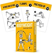 Bodyweight Exercise Cards Home Gym Workout Personal Trainer Fitness Program Guide Tones Core Ab Legs Glutes Ch