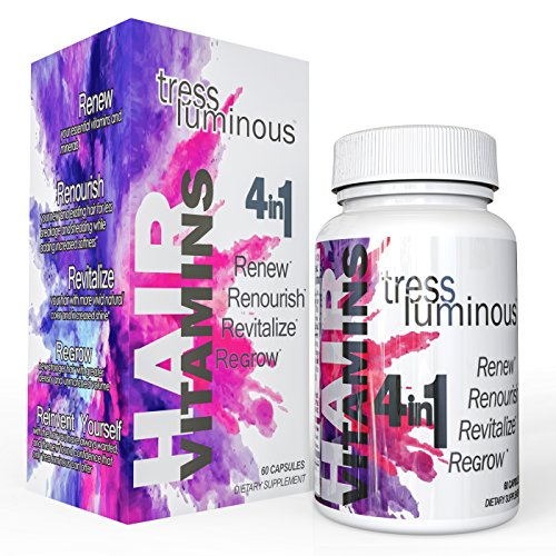 Tress Luminous - New Potent Hair Vitamins; Enhanced with DHT Blockers, Hair and Follicle Support Formula; Supports Hair Growth for Men and Women; All Natural Veggie Capsules; MADE IN THE USA - Exclusive Hair Formula