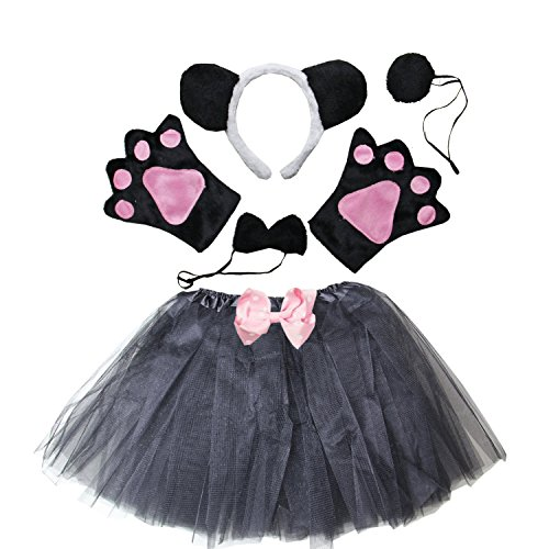 Kirei Sui Kids Costume Tutu Set Black Panda ()