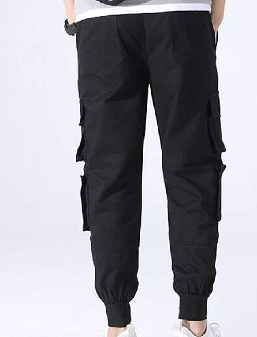 Unastar Mens Lightweight Multi Pockets Athletic-Fit Cotton Cargo Pant