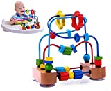Bead Maze Activity Cube Wooden Toy for Babies, Toddlers - Small Wood Roller
