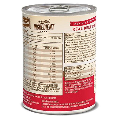 Merrick Grain Free Limited Ingredient Diet Beef Recipe Wet Dog Food 12.7 oz, Case of 12 by Merrick (Image #1)