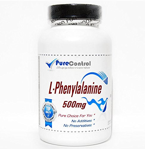 L-Phenylalanine 500mg // 100 Capsules // Pure // by PureControl Supplements
