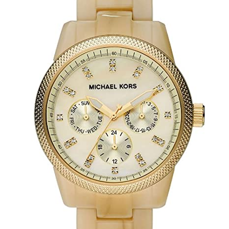 f91770d86201 Michael Kors Mk5039 Ladies Champagne Dial Horn Bracelet Watch  Michael Kors   Amazon.co.uk  Watches