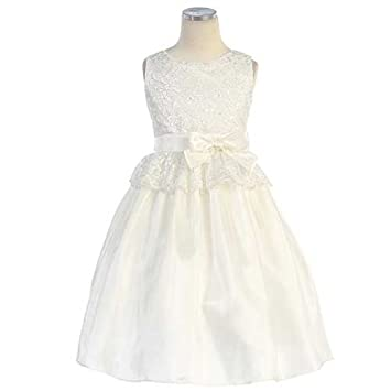 fe394cae716a4 Amazon.com: Sweet Kids Toddler Girls 3T Off White Lace Peplum Easter ...