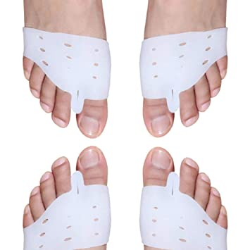 2pcs Hallux valgus Orthotics Silicone Toes, separadores de dedos, corrector de juanetes, cojines