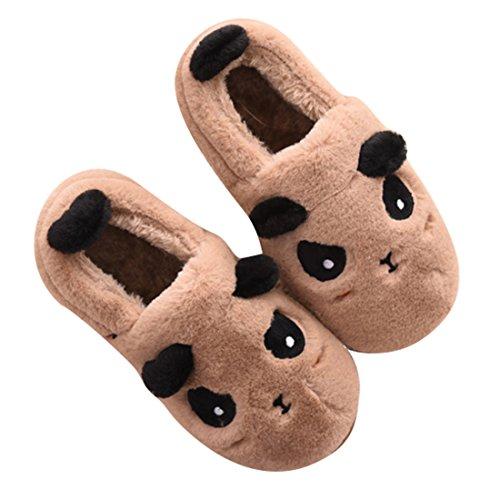 Pantofole Da Uomo Casa Pantofole Da Uomo Di Marca Winzik Felpato Foderato In Pelle Antiscivolo Inverno Caldo Casa Scarpe Stivali Marroni