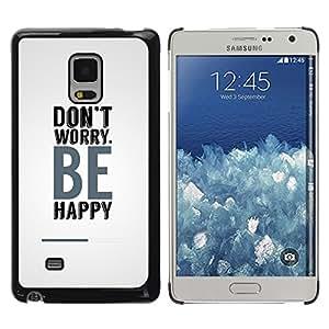 Planetar® ( Don´t Worry Be Happy ) Samsung Galaxy Mega 5.8 / i9150 / i9152 Fundas Cover Cubre Hard Case Cover