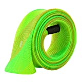 Isafish Expandable Braided Fishing Rod Sleeve Pole Fishing Tools Spinning Casting Rod Cover Protector Jacket Socks Green For Sale