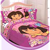 Dora The Explorer Nick Jr.-Dora The Explorer Flower Patch Twin Comforter Reversible