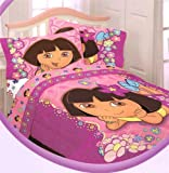 Dora the Explorer Flower Patch Twin Comforter Reversible